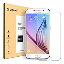 Coolreall Premium Tempered Glass Screen Protector for Samsung Galaxy S6 - Transparent (0.33mm HD Ultra Clear)