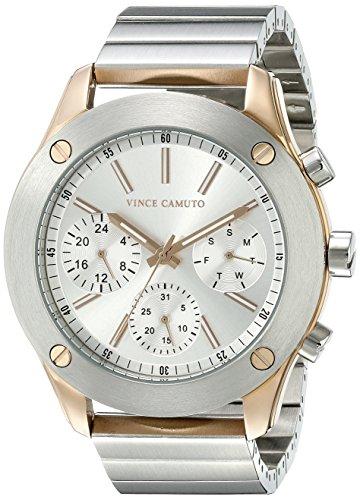 Vince Camuto Women's VC/5249SVSV Multi-Function Dial Silver-Tone Bracelet Watch
