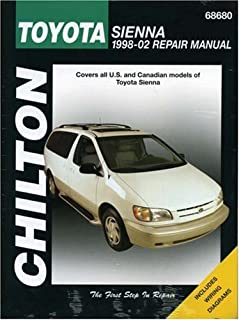 amazon com chilton toyota sienna 1998 2010 repair manual 68680 rh amazon com 1998 toyota sienna repair manual pdf 1998 toyota rav4 repair manual free download
