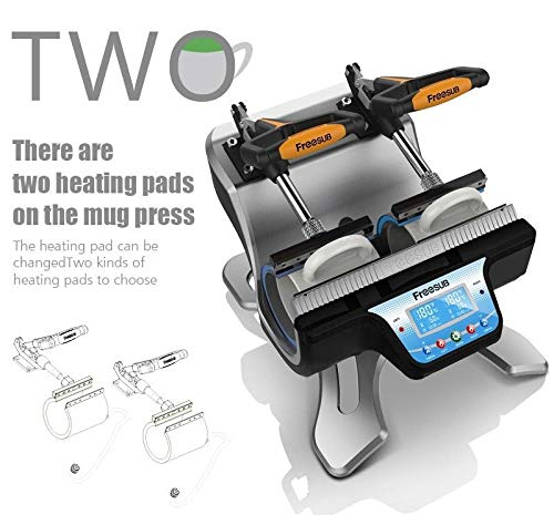 110V Automatic Mini Double Station Mug Heat Press Transfer Machine for 11OZ 15OZ 17OZ Mug Printing DIY 2 Mugs Sublimation Printing