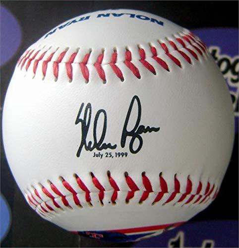 Nolan Ball Ryan (Autographed Nolan Ryan Ball - facsimile commemorative career stat) - Autographed Baseballs)