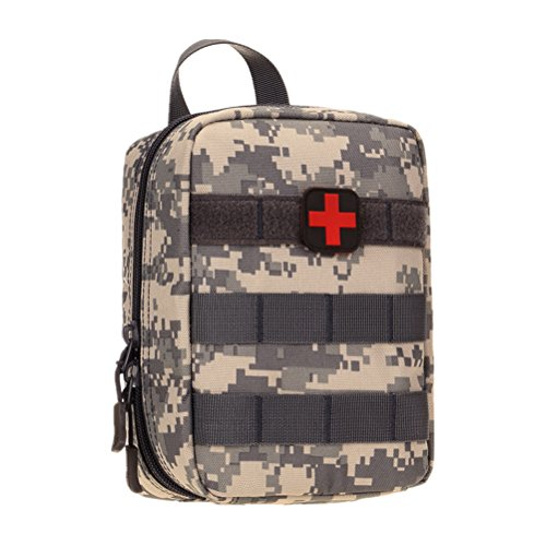 UNISTRENGH Outdoor Travel Portable First-aid Kit Camouflage Medical Pouch Mountaineering Climbing Lifesaving Bag Home Vehicle Emergency Pack (ACU)