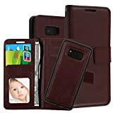 Phone Case for Samsung Galaxy S8 Case Leather Flip Wallet Case Samsung Galaxy S8 PU 2 in 1 Kickstand Case Cover (5, Samsung S8)