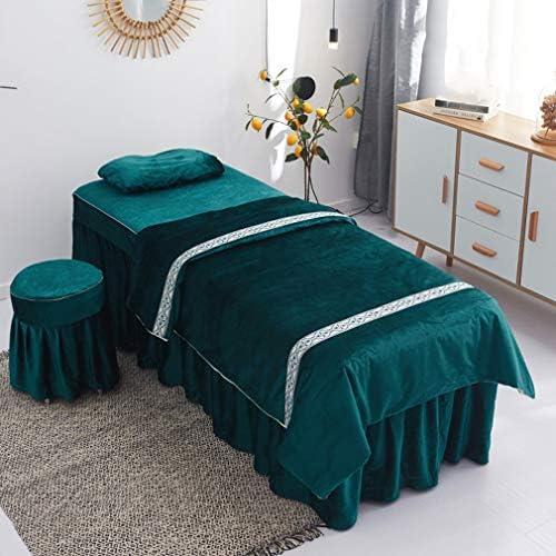 4ピースマッサージテーブルシートは、サロンのベッドカバー、ベッド美容ベッドスカートシート美容ベッドカバーソリッドカラーのラティスシーツタトゥーセラピーマッサージキルトカバーを設定します。 (Color : 2#, Size : 180x60cm(71x24inch))