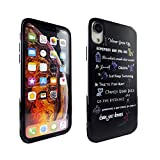 iPhone XR Case Disney Quotes, IMAGITOUCH Anti-Scratch Shock Proof Clear Case Soft Touch Slim Fit Flexible TPU Case Bumper Cover for iPhone XR Disney Movies Characters Quotes Bumper