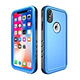 ALLTOP Compatible iPhone x/iPhone 10 Case Waterproof,Full Sealed Cover Shockproof Dustproof IP68 Certified with Built-in Screen Protector,2017 Release,Blue