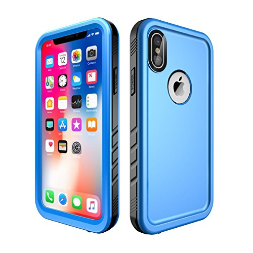 Compatible iPhone x/iPhone 10 Case Waterproof,Blue(5.8 inch)