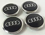 audi a6 wheel center cap - 4pcs AUDI Black Wheel Center Caps 4B0601170A(69mm) FOR AUDI A3 A4 A6 A8 S4 S6 RS4 RS6
