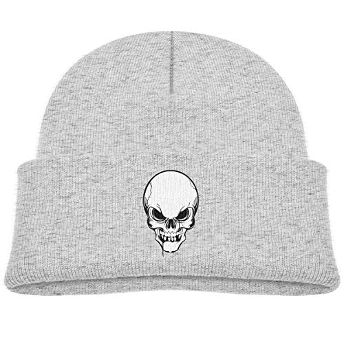 Infant Toddler Baby Kids Knitted Beanies Hat Skull Skeleton Tattoo Winter Hat Knitted Skull Cap for Boys Girls Gray]()