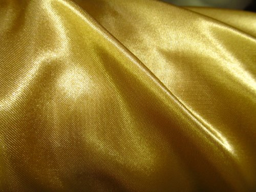 (EconoRolls 100% Polyester Satin Charmeuse Gold 60 Inch Fabric By 50 Yards Sold by the Bolt - Wholesale (F.E.) ()