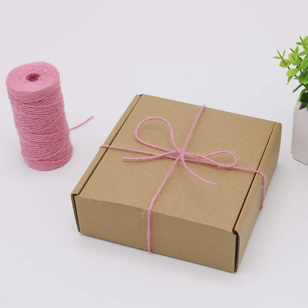 Wrapping 335 Feet 2mm Jute Rope Gift Twine Packing String for Craft Projects Black Gardening Applications Tenn Well Jute Twine String