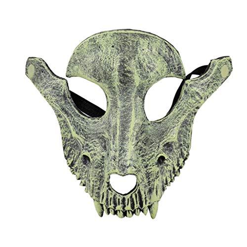 Ram Skull Mask (Halloween Party Mask Ram Skull Shape Shock Headgear Mask Dances Nightmare Before Christmas Mask for Adults Kids (Gray,)