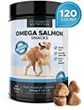 Salmon Oil for Dogs - Omega 3 Fish Oil For Dogs All-Natural Wild Alaskan Salmon Chews Omega 3 for Dogs for Healthy Skin & Coat, Cure Itchy Skin, Dog Allergies, Reduce Shedding - 120 Count Dog Fish Oil