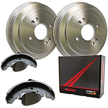 Max DS925042 Rear Premium OE Replacement Drums and Shoes Combo Brake Kit