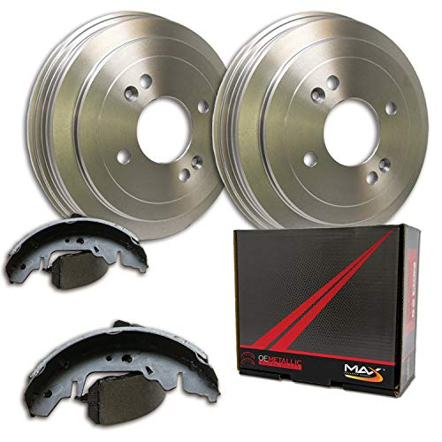 (Max DS911742 Rear Premium OE Replacement Drums and Shoes Combo Brake Kit )