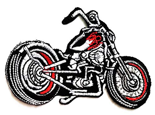 Nipitshop Patches Motorcycle Bike Chopper Classic Logo Movie Cartoon Kid Patch Symbol Jacket T-Shirt Patch Sew Iron on Embroidered Sign Badge Costume
