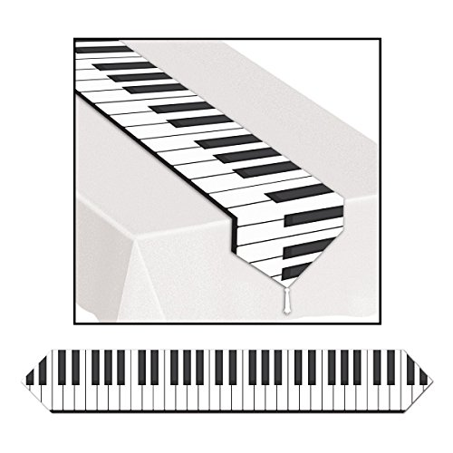 Club Pack of 12 Printed Piano Keyboard Table Runner 6'