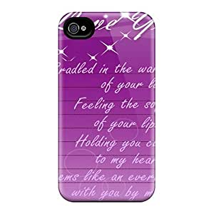 Hot Style LIA24683RSIL Protective Case Cover For Iphone4/4s(love)