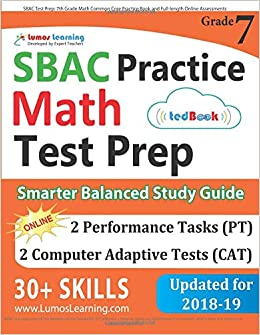 SBAC Test Prep 7th Grade Math Common Core Practice Book And Full