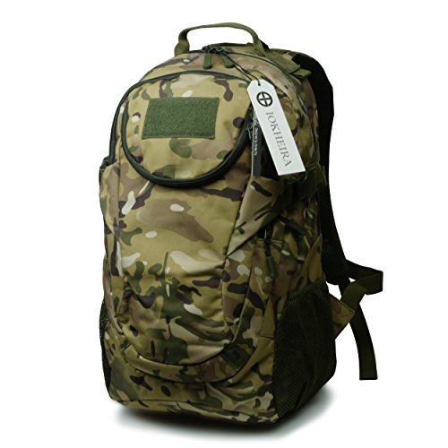 Backpack Patch Camo (IOKHEIRA CP Camo 25 Litre 600D Patch Outdoor Sport Tactical Military Assault Bag Backpack)
