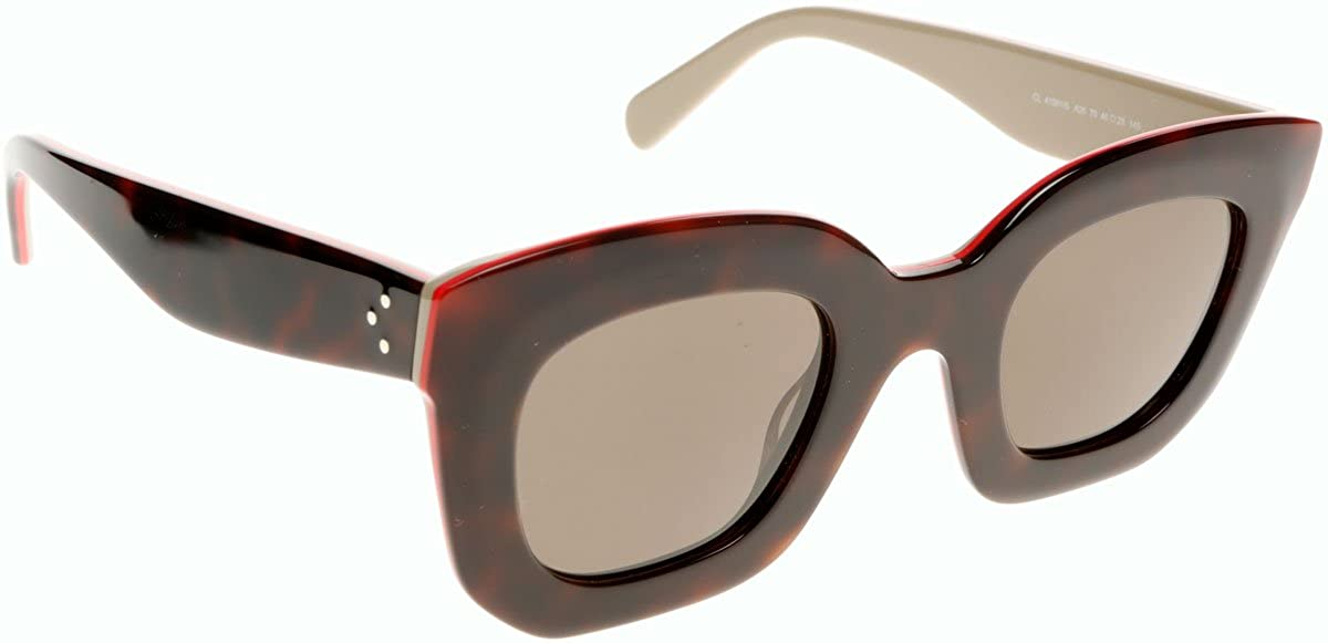 edba83f42d6 Celine 41091S A26 Havana - red - beige Marta Small Wayfarer Sunglasses Lens  Cat  Amazon.co.uk  Clothing