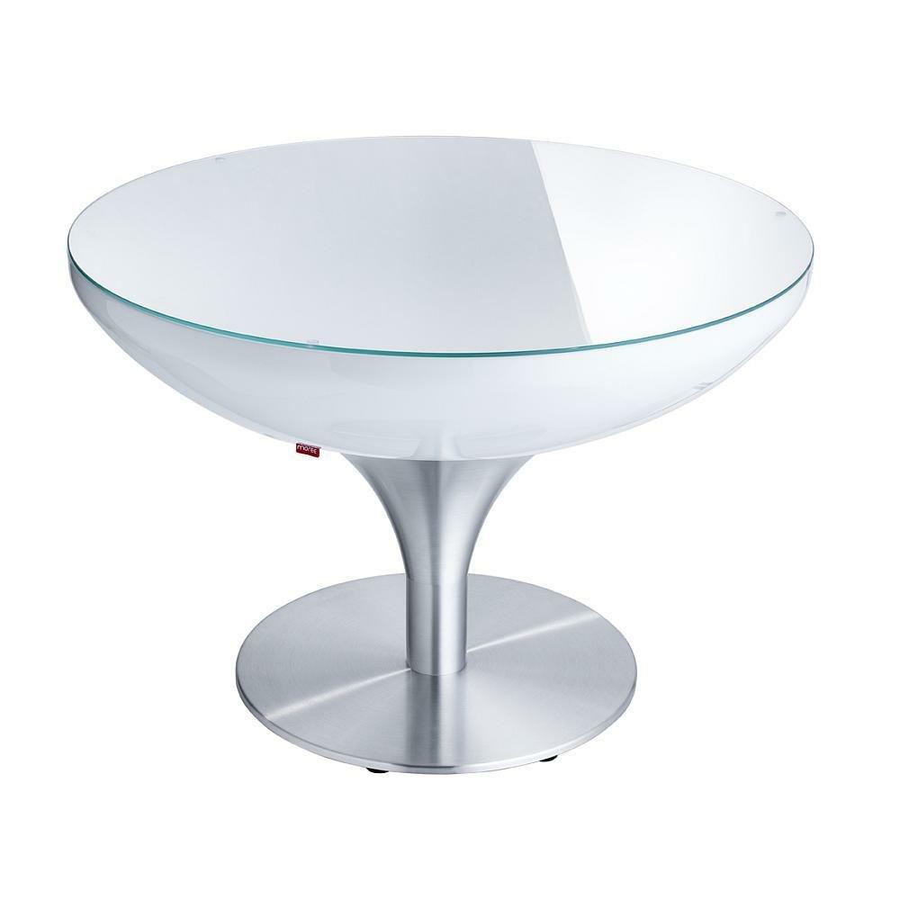 moree Lounge Tisch Lounge 55, Metallisch/Weiß, Aluminium/ Kunststoff, 07-05-01