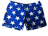 Best USA Gifts Adults - Blue with White Stars Basic Shorts Review