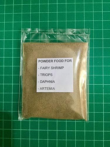 Siam Live Aquarium 20G HIGH Protein Powder Food for Feed Fairy Shrimp,TRIOPS,Daphnia,Artemia