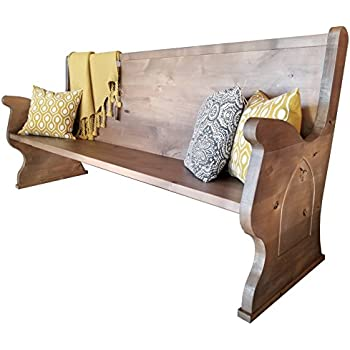 Awesome Amazon Com Rustic Church Pew 48 L Barn Wood Finish Andrewgaddart Wooden Chair Designs For Living Room Andrewgaddartcom