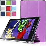 Lenovo Tab 2 A8 & Lenovo Tab 3 8 Case - HOTCOOL Ultra Slim Lightweight Stand Cover Case For Lenovo Tab 2 A8-50 & Lenovo Tab 3 8 Tablet, Purple
