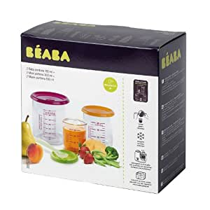 Beaba 912261 Gipsy - Set de 6 recipientes para alimentos infantiles