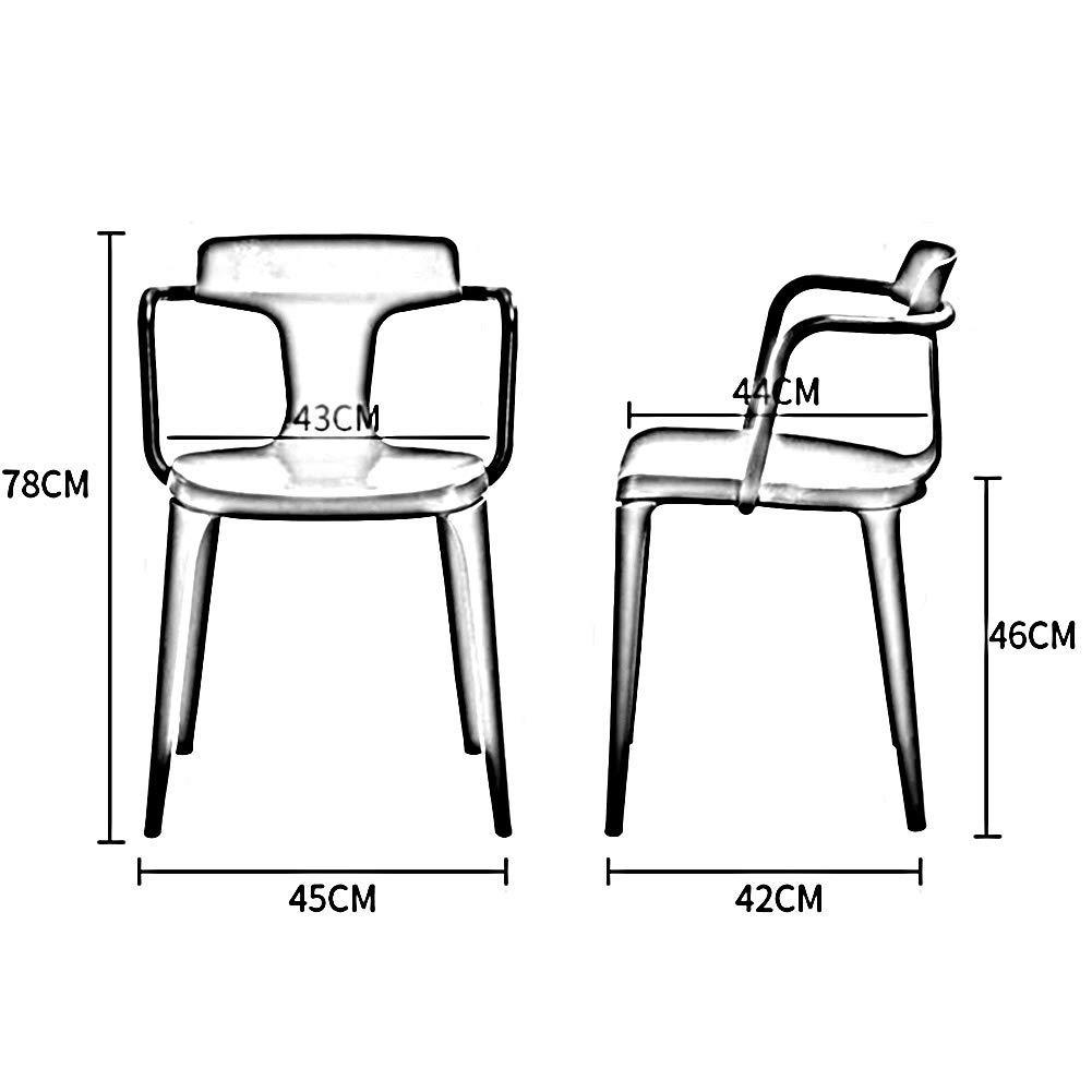 JIEER-C Fritidsstolar stol matsal barstol kontor fritid pall PP plast lounge restaurang 8 färger hållbar stark vit
