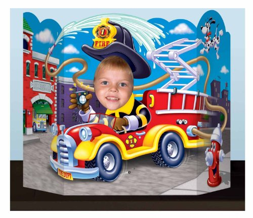 (Fire Truck Photo Prop Party Accessory (1 count) (1/Pkg))