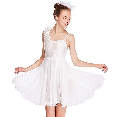 3ba90a8f6 Amazon.com  MiDee Lyrical Dress Dance Costume Camisole One Shoulder ...
