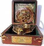 Big Brass Triangle Sundial Compass with adjustable screw legs..C-3053