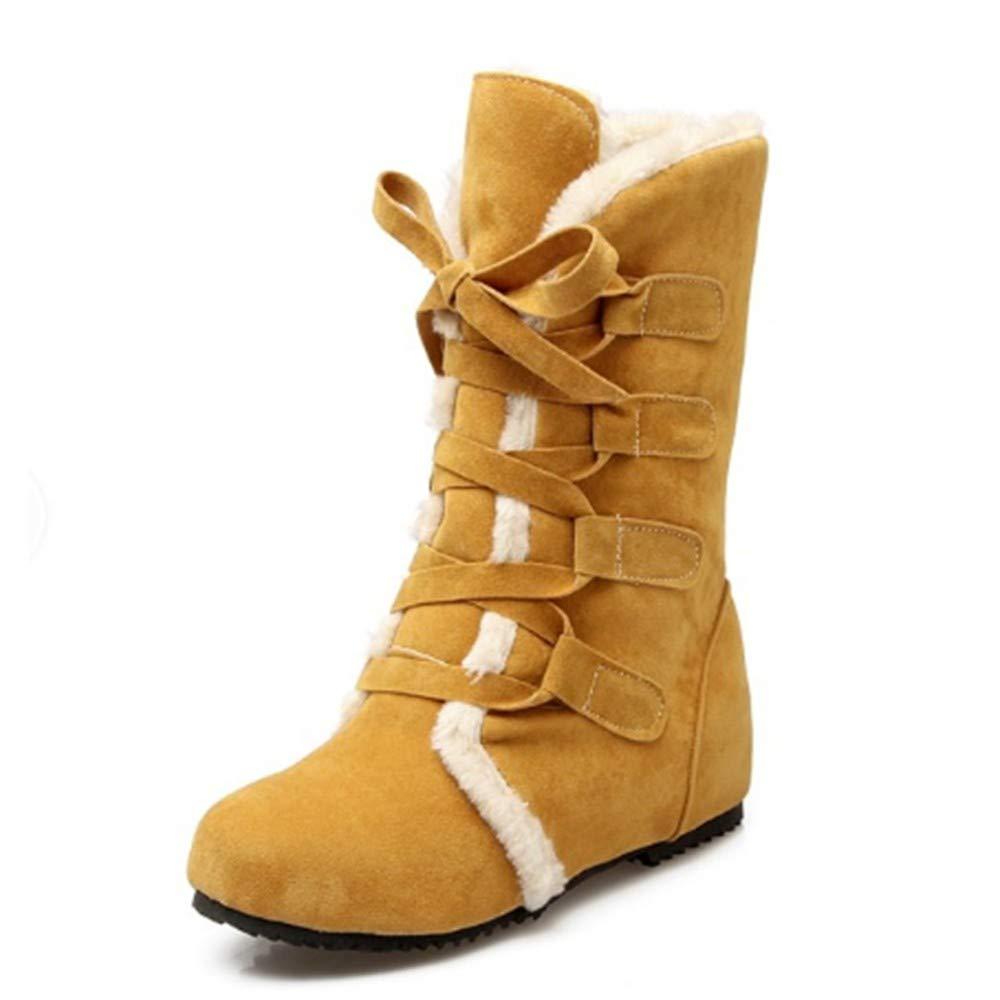 FMWLST Stiefel Schnee Stiefel Warme Damen Stiefel Stiefel Stiefel Hohe Qualität Winter Schuhe Damen Stiefel  b01534