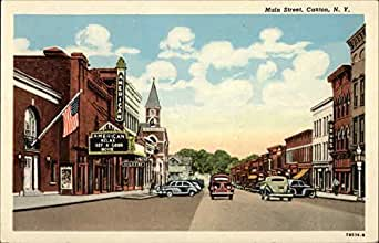 main street canton new york original vintage postcard entertainment collectibles. Black Bedroom Furniture Sets. Home Design Ideas