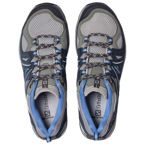 Salomon Ellipse 2 Aero Hiking Shoe - Women's Titanium/Deep Blue/Petunia Blue 8