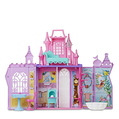Disney Princess Pop-Up Palace, Castle Playset with Handle and 13 Accessories, 5 Rooms, 2 Feet Tall ()