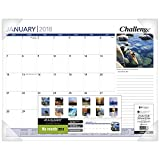 AT-A-GLANCE Monthly Desk Pad Calendar, January 2018 – December 2018, 21-5/8″ x 16-7/8″, Inspirational (DMD10032)