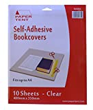 PAPERTENT Self-Adhevsive Clear Book Covers, 10 Sheets