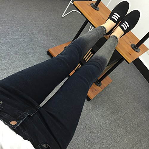 Alto Mujer Slim Elastico Negro Jeans Vaqueros Denim Tiro Pantalones Fit Skinny Tejanos q6twr16