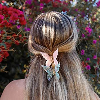 New Gorgeous Purple With Lilac Crystal 3/'/' Hair Claw Clip