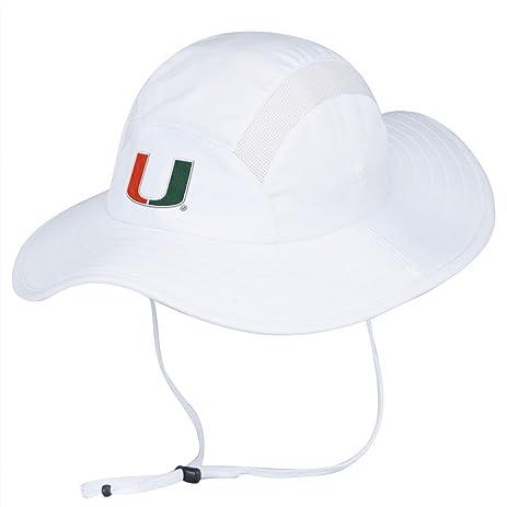 premium selection f9fd2 90a76 ... ireland miami hurricanes adidas sideline uv protective climalite safari  hat white 38f55 b0e98