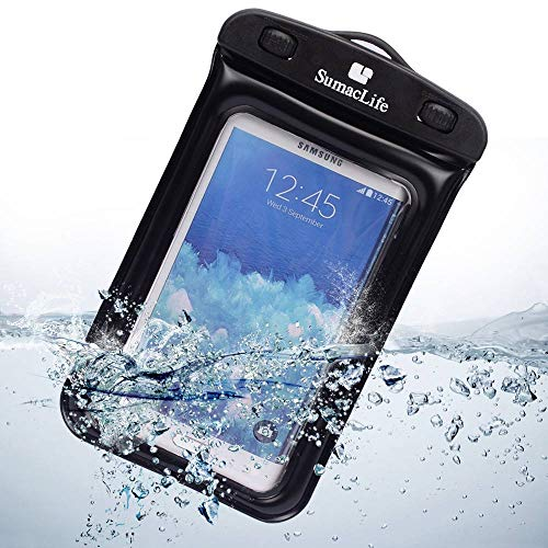Smartphone Waterproof Case Cellphone Dry Bag for HTC U12+/U11 Eyes/Desire 12/12+/Iphone X/8 Plus/8/7/7 Plus/6s Plus/6s/Sony Xperia XZ2/Compact/Premium/L2/XA2/ZTE Nubia Z18 mini/Red Magic/V18(Black) by SumacLife