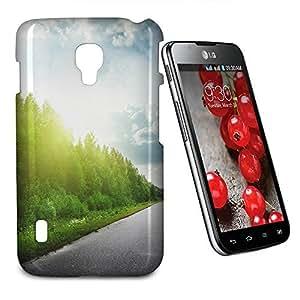 Phone Case For LG Optimus L7 II Dual P715 - Road Through Forest Designer Cover