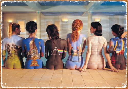 Aquarius Pink Floyd Back Art Tin Sign ()
