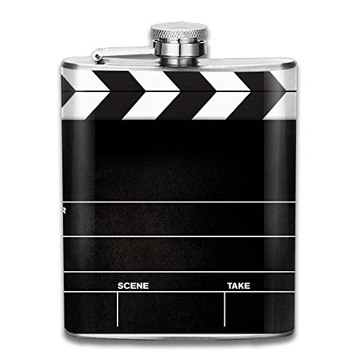 CzxzZd CZZD Movie Reel Film Cliparts Clipartix Portable Stainless Steel Flagon Brandy Wine Pot by CzxzZd