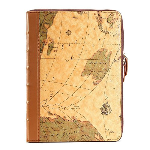 Se7enline brown map pattern pu leather book case for 13 inch macbook se7enline brown map pattern pu leather book case for 13 inch macbook pro with retina display gumiabroncs Choice Image