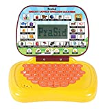 Prasid Smart Lovely English Learner Kids Laptop, Yellow/Brown